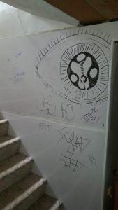 meth house graffiti damage