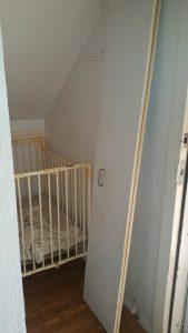 meth user crib in closet